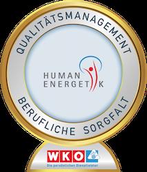 """Qualifizierung zum Thema """"Berufliche Sorgfalt"""" der Berufsgruppe Humanenergetik"""